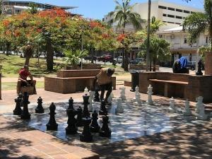 公園でチェス
